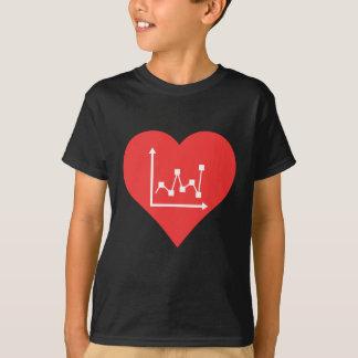 I Heart Graphs Vector T-Shirt
