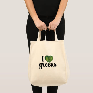 I Heart Greens Grocery Tote Bag