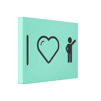 I Heart Greeting Mans Canvas Prints