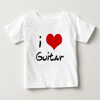 I Heart Guitar Baby Shirt