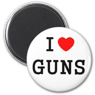 I Heart Guns 6 Cm Round Magnet