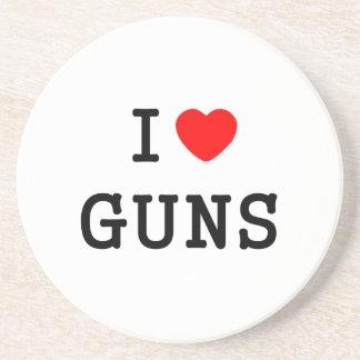 I Heart Guns Coaster