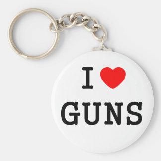 I Heart Guns Basic Round Button Key Ring