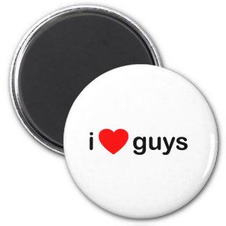 I Heart Guys 6 Cm Round Magnet