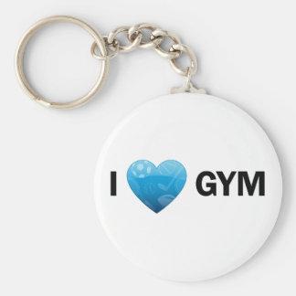 I Heart Gym Keychain