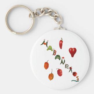 I Heart Habaneros Key Ring