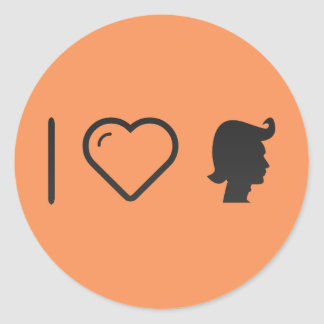 I Heart Hair Waxes Round Sticker