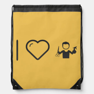 I Heart Hairstylist Barbers Drawstring Bag