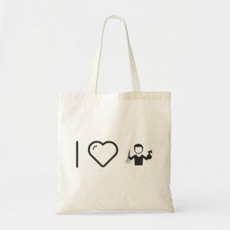 I Heart Hairstylist Barbers Budget Tote Bag
