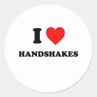 I Heart Handshakes Classic Round Sticker