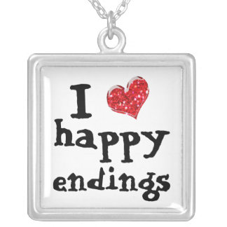 i heart happy endings necklace