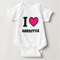i heart hardstyle baby bodysuit