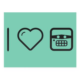 I Heart Hate Emoticons Postcard