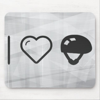I Heart Helmets Mouse Pad