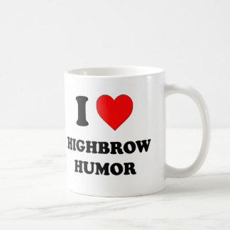I Heart Highbrow Humor Classic White Coffee Mug