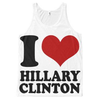 I Heart Hillary Clinton All-Over Print Singlet