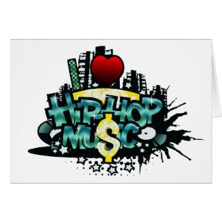 I Heart Hip Hop Music Greeting Card