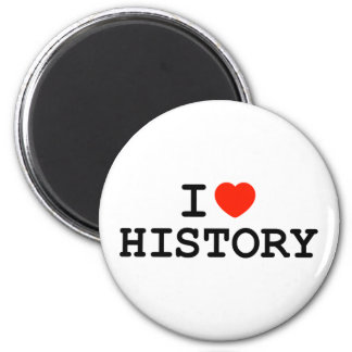 I Heart History 6 Cm Round Magnet