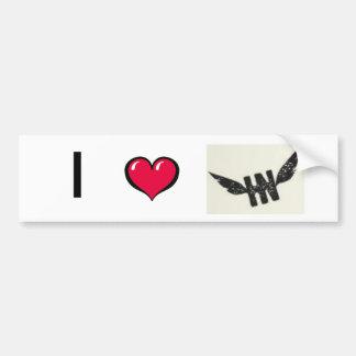 I *heart* HN Bumper Sticker