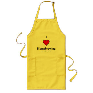 I heart homebrewing long apron