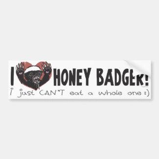 I Heart Honey Badger Bumper Sticker
