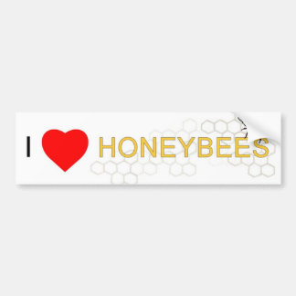I Heart Honeybees bumper sticker