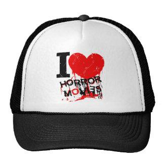 I HEART HORROR MOVIES HATS