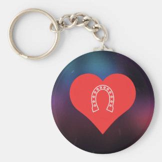 I Heart Horseshoe Tournaments Basic Round Button Key Ring