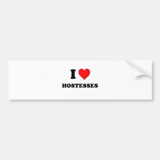 I Heart Hostesses Bumper Stickers