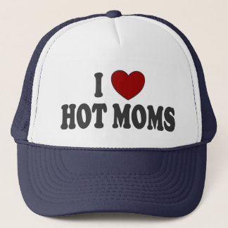 I Heart Hot Moms Trucker Hat