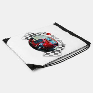 I Heart Hot Rods - Drawstring Bag