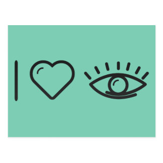 I Heart Human Eyes Postcard