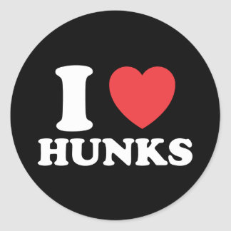 I Heart Hunks Stickers