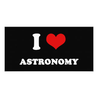 I Heart I Love Astronomy Picture Card