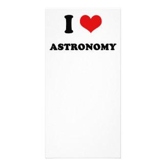 I Heart I Love Astronomy Custom Photo Card