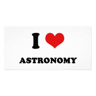 I Heart I Love Astronomy Personalized Photo Card