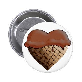 I Heart Ice Cream Chocolate Pin