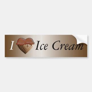 I (Heart) Ice Cream! Chocolate Car Bumper Sticker