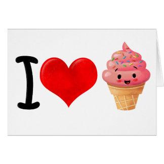 I Heart Icecream Card