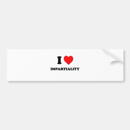 I Heart Impartiality Bumper Sticker