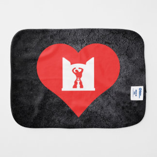 I Heart Independence Monument Baby Burp Cloths