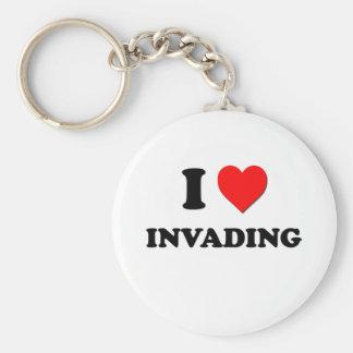 I Heart Invading Keychain