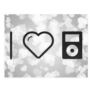 I Heart Ipods Postcard