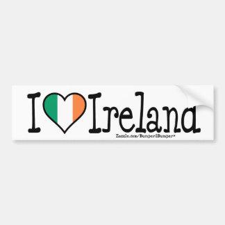 I HEART IRELAND BUMPER STICKER