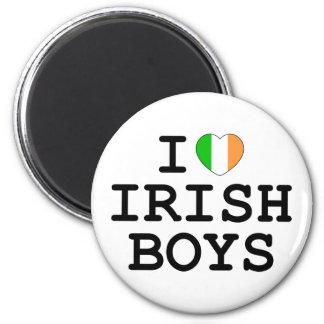 I Heart Irish Boys 6 Cm Round Magnet