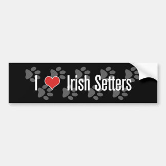 I (heart) Irish Setters Bumper Sticker
