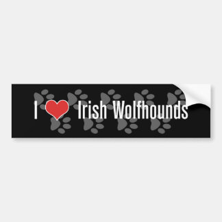 I (heart) Irish Wolfhounds Bumper Sticker