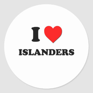 I Heart Islanders Round Sticker