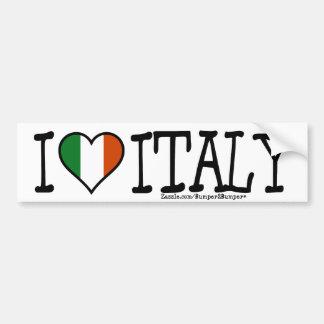 I HEART ITALY BUMPER STICKER