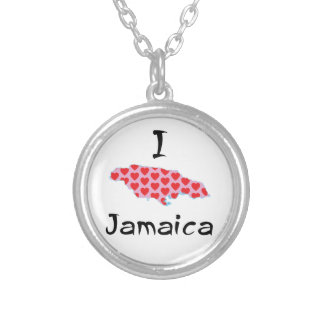 I heart Jamaica Silver Plated Necklace